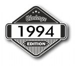 VIntage Edition 1994 Classic Retro Cafe Racer Design External Vinyl Car Motorcyle Sticker 85x70mm
